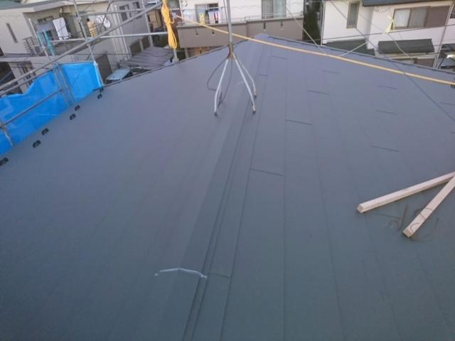 狭山市 瓦の屋根をガルバニウムに!